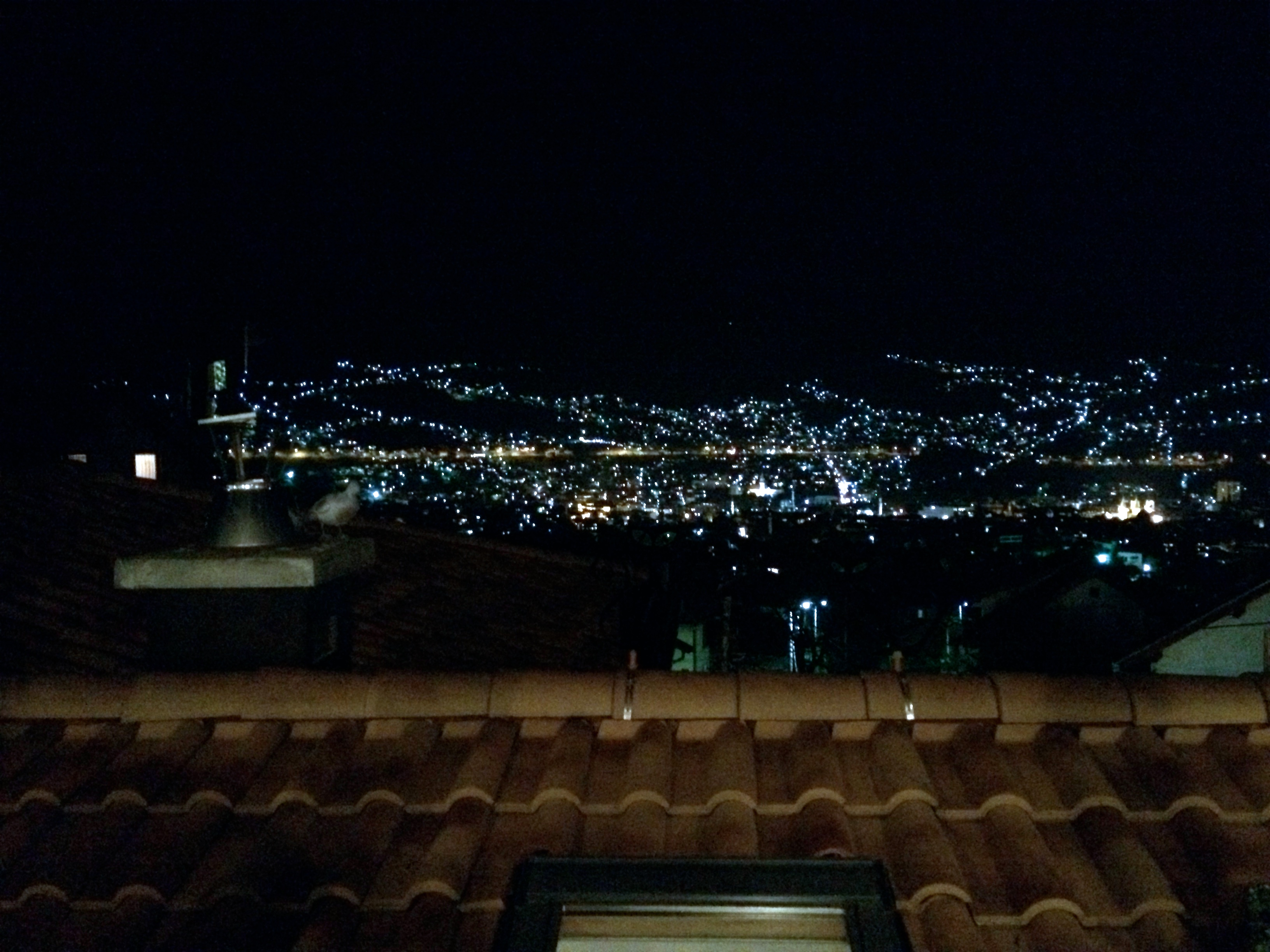 The starry lights of the city from Kibe