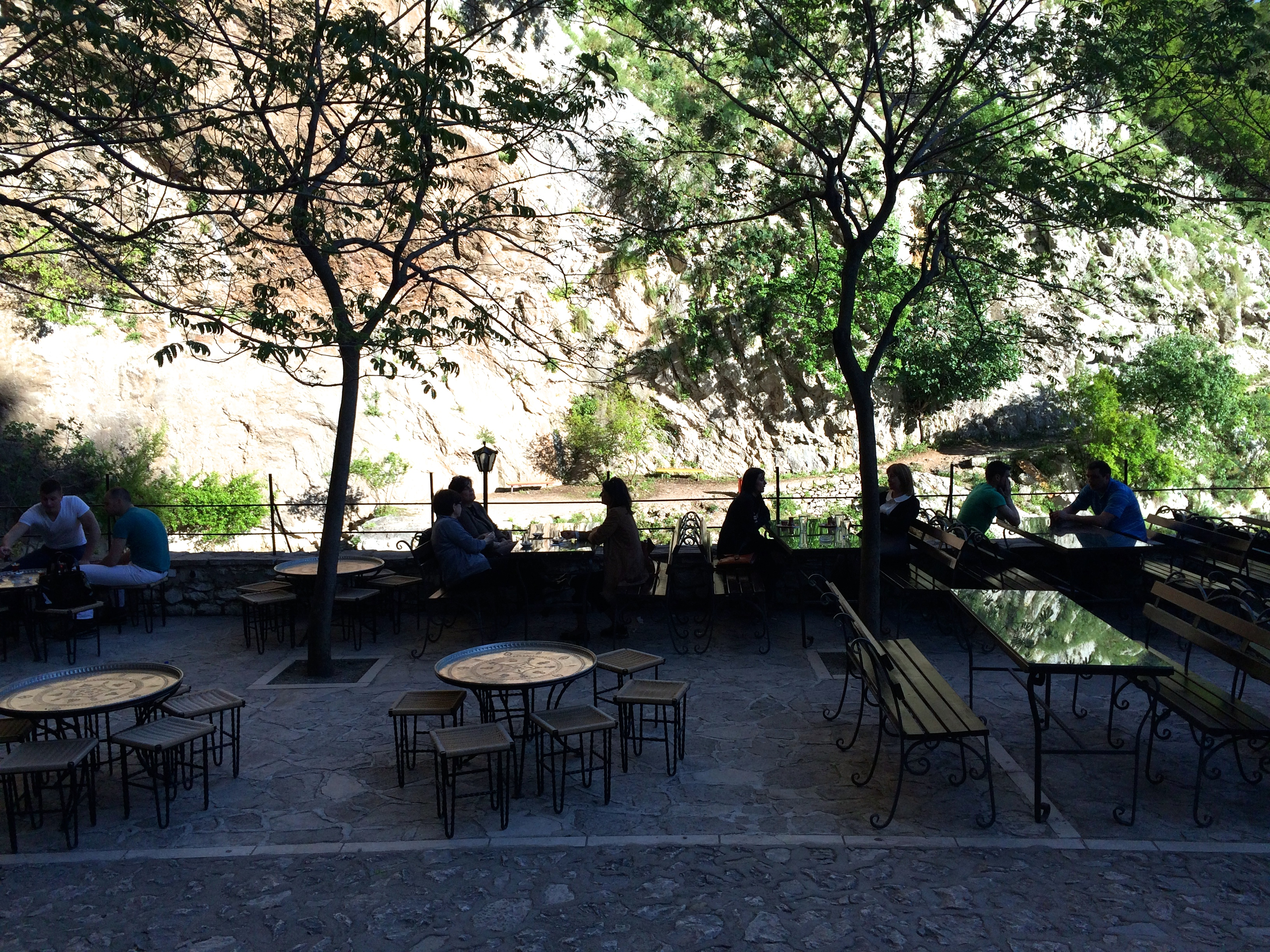 Cafe in front of Blagaj Tekke (Dervish House)