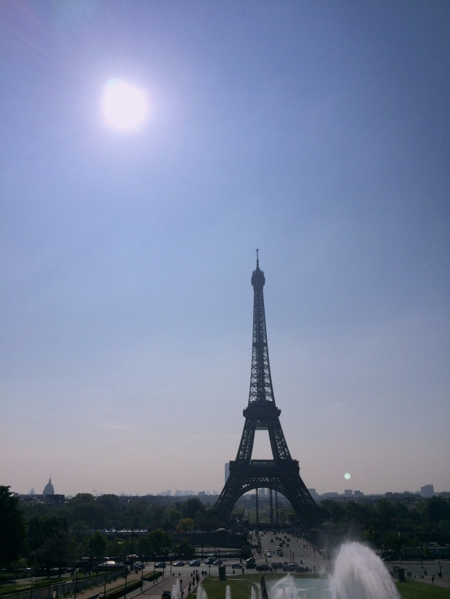 Eiffel Tower in the morning sun. Imagine if your second date was at the Empire State Building, could you break yourself away from all the cultural lore tied with the iconic location for love?