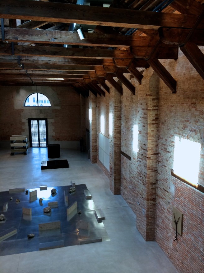 The space was beautiful with its timbered ceiling and exposed brick walls